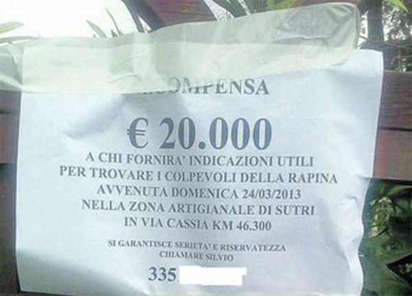 recompensa italia