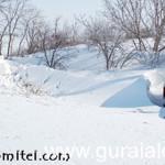 IALOMIŢA: Mai multe case din Reviga sunt acoperite cu zăpadă