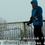 PRAHOVA: Ploieştenii merg cu schiurile prin oraş! Video incredibil