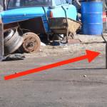 DÂMBOVIŢA: A plimbat o bombă prin tot oraşul Găeşti!