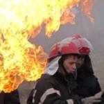 DÂMBOVIŢA: O conductă de gaze arde pe malul Cricovului, la Moreni