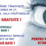 DÂMBOVIŢA: Consultaţii oftalmologice gratuite la Primăria Târgovişte