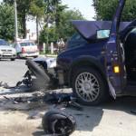 DÂMBOVIŢA: Poliţişt spulberat de o maşină în faţa Spitalului din Găeşt...