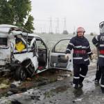 CĂLĂRAŞI: Prima zăpadă, primele accidente pe Autostrada Soarelui