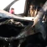 ARGEȘ: Mașină folosită în campania electorală, incendiată în stil mafi...