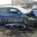 DÂMBOVIŢA: Trei persoane au scăpat cu viaţă dintr-un BMW făcut zob!