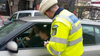 Pe 1 şi 8 martie, poliţiştii le oferă doamnelor mărţişoare şi flori, dar nu uită nici de amenzi