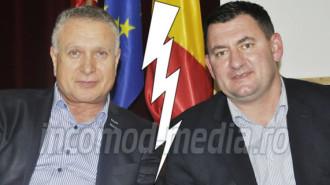 Primarul Traian Niculae (stânga) şi viceprimarul Vlad Oprea (dreapta) părea că formează o echipă administrativă de invidiat