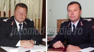 Col. Mîrlogeanu Remus (dreapta) şi col.  Chivu Aurel (stânga) sunt cercetaţi pentru abuz în serviciu, fals intelectual şi uz de fals