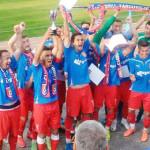 """FOTBAL: Promovarea în Liga a 2-a, sărbătorită la înălţime pe """"Eugen Po..."""
