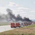 EXERCIŢIU: Tragedie aviatică, simulată pe Aerodromul Strejnic din jude...