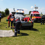 CĂLĂRAŞI: Exerciţiu pentru testarea capacităţii de intervenţie a pompi...