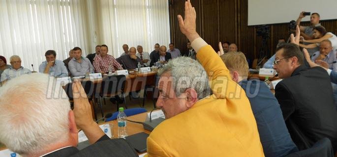 Consilierii PNL, fie s-au abţinut, fie au votat împotrivă