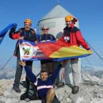 FOTO: Dâmboviţeni, pe cel mai înalt vârf al Sloveniei