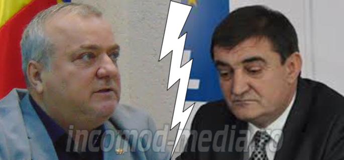 Dumitru Miculescu (stânga) - Iulian Vladu (dreapta)