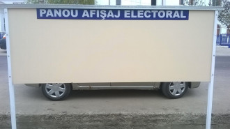 panou electoral voinesti