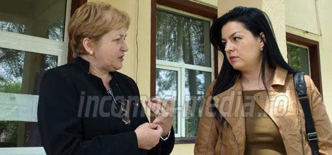 Violeta Coman (stânga) şi Cristina Păun (dreapta)