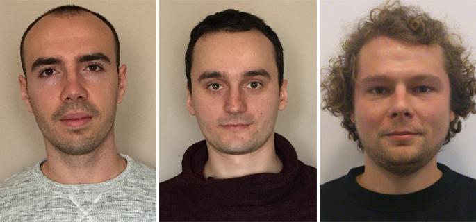 De la stânga la dreapta: Alin Vlasin, Raul Pop şi Mihai Negrean
