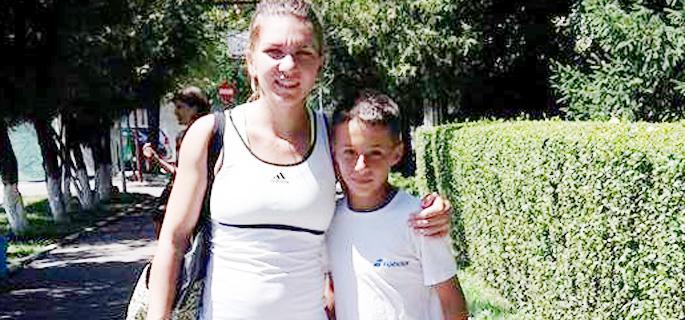 Vlad Breazu, împreună cu Simona Halep