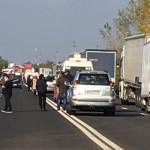 GIURGIU: Patru persoane au murit carbonizate într-un accident pe DN5