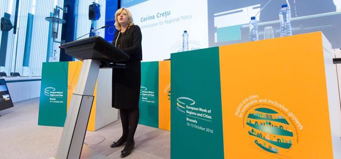 Corina Creţu - comisarul european pentru politică regională (Sursa foto: Facebook Corina Creţu)