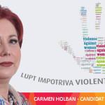 Spune NU violenţei împotriva femeilor! Candidata PSD Carmen Holban te ...