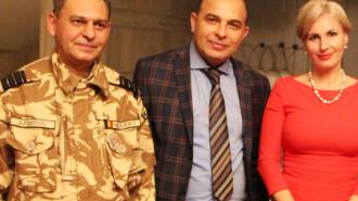Marian Pătuleanu - primar Singureni, în mijloc (Sursa foto: www.stirigiurgiu.ro)