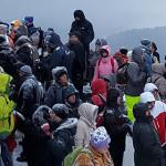 FOTO: Sfinxul din Bucegi, locul unde credincioşii se roagă împreună cu...
