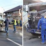 DÂMBOVIŢA: Accident între două TIR-uri pe DN 71, la Bâldana