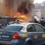 PRAHOVA: Ghenă de gunoi în flăcări, cinci maşini din jur avariate!