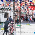 DÂMBOVIŢA: Oraşul Titu a devenit multicolor, după modelul vest-europea...