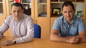 Cornel Pătrășcan și Mihai Prodan (Sursa foto: csstargoviste.ro)