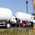 DÂMBOVIŢA: Cisternă cu GPL s-a răsturnat pe autostrada Bucureşti-Piteş...