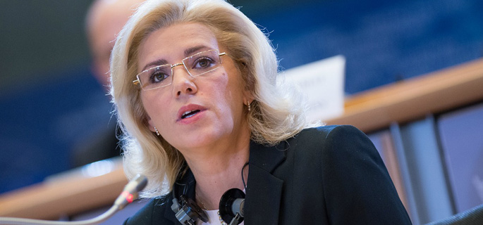 Corina Creţu - comisar european pentru politică regională (Sursa foto: www.rador.ro)
