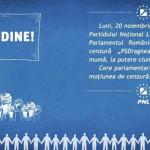 TÂRGOVIŞTE: Miting de susţinere a moţiunii de cenzură iniţiată de PNL