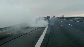 incendiu autostrada