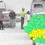 METEO: Încep ninsorile! Cod galben valabil pentru 12 judeţe