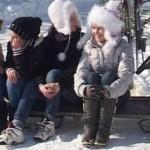 DÂMBOVIȚA: Concurs de săniuș pe ulița satului Văleni