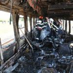 PANICĂ: Garnitură CFR Călători a luat foc în mers! Focul a fost stins ...
