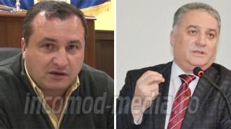 Adrian Chiriţă - primar Hulubeşti (stânga) şi Ioan Marinescu - prefect judeţul Dâmboviţa (dreapta)